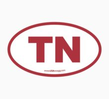 Tennessee TN Euro Oval RED Kids Clothes