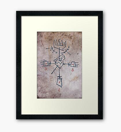 Religious christian Cross Framed Print