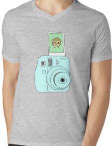monkey emoji polaroid Mens V-Neck T-Shirt