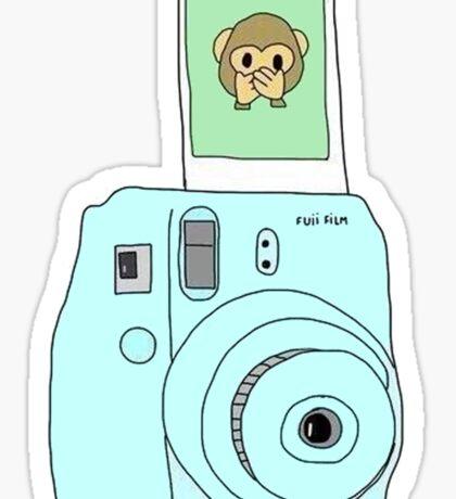 monkey emoji polaroid Sticker