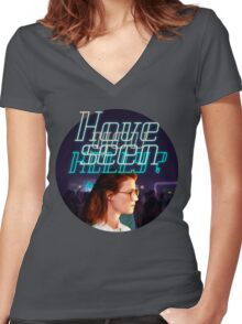 Black Mirror - San Junipero - Have you seen Kelly? Women's Fitted V-Neck T-Shirt