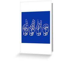 DUKE University in American Sign Language ASL #MadEDesigns Greeting Card