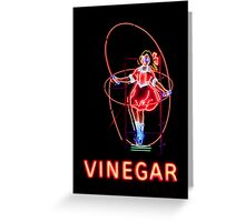 Skipping Girl Neon Clothing Greeting Card