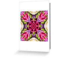 Kaleidoscope   Spring Flowers 4 Greeting Card
