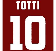 Totti Number 10 Photographic Print