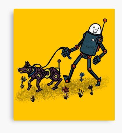 Robot Walk Canvas Print