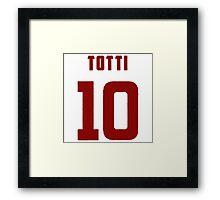 Totti Roma Framed Print