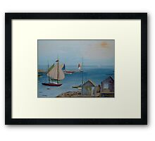 Sails in the Distance  Framed Print