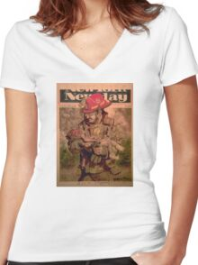 Murrah Baby Rescue Women's Fitted V-Neck T-Shirt