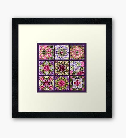Kaleidoscope | Flower Quilt Framed Print