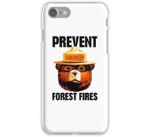 Smokey The Bear Prevent Forest Fires iPhone Case/Skin