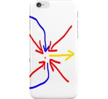 Centre Exit Arrows - Red, Yellow, Blue  iPhone Case/Skin