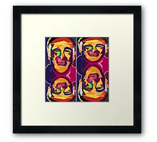 robin williams geometric  Framed Print