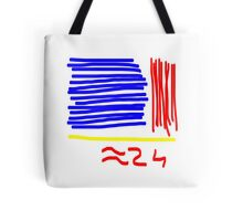 Approximately 24 - Red, Yellow, Blue  Tote Bag