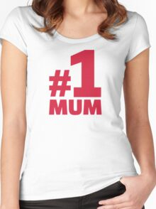 Number No. 1 Mum Women's Fitted Scoop T-Shirt