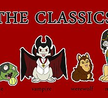 Classic Monsters by sinjaaussia