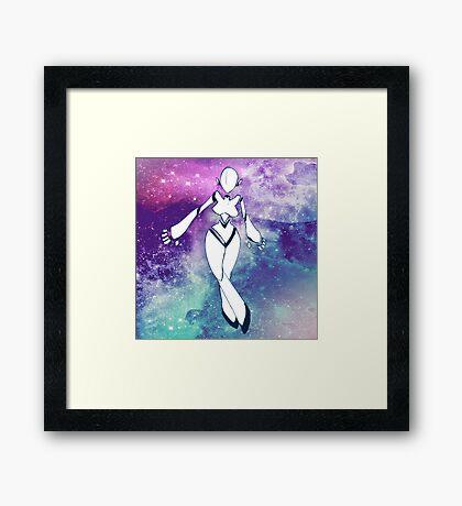 Space Doll Framed Print