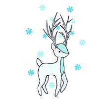 Snowflake Deer Photographic Print