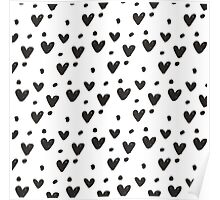 Black and White little love Poster