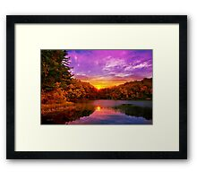 Sunset Deluge Framed Print