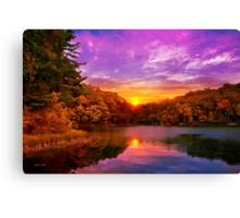 Sunset Deluge Canvas Print