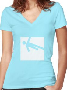 Parkour Women's Fitted V-Neck T-Shirt