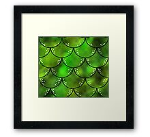 Mythical Green Dragon Scales Pattern Framed Print