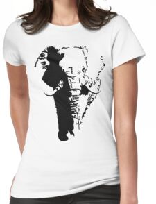 The Magestic African Elephant Womens Fitted T-Shirt