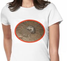 Hedgie finds a mate Womens Fitted T-Shirt
