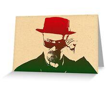Walter White aka Heisenberg Greeting Card