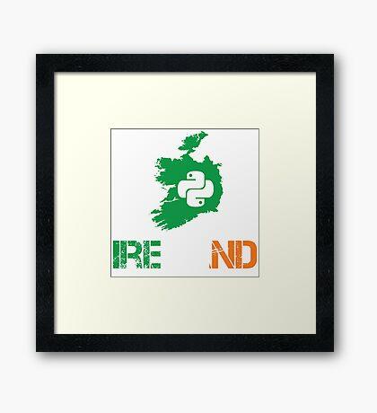 Python Ireland Programmer Gifts Framed Print