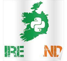 Python Ireland Programmer Gifts Poster