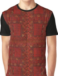 Turkestani red carpet pattern Graphic T-Shirt
