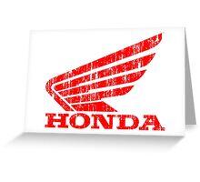 Honda Wing Grunge Greeting Card
