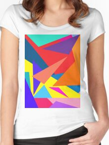 """geometric art 371"" Women's Fitted Scoop T-Shirt"