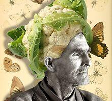 cauliflower, collage by Krzyzanowski Art