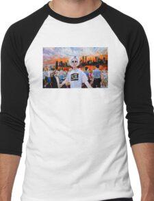 AIDS Sunset World Trade Center Men's Baseball ¾ T-Shirt