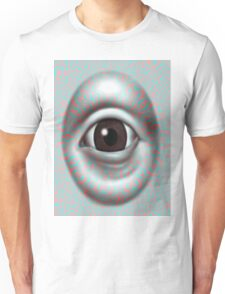Anaglyph 3D Psychedelic evil eye ( red blue glasses needed for  3d effect) Unisex T-Shirt