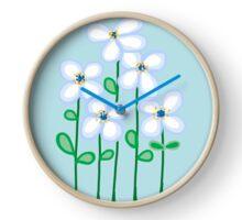 Blue daisies Clock