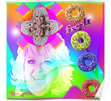 Go Nuts with Paula's Fresh Donuts Poster