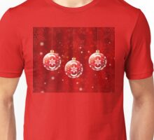 Christmas Red Balls Unisex T-Shirt