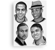 JLS in Black and white Canvas Print