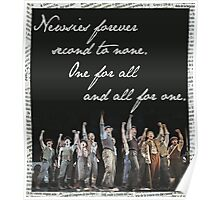 Newsies Forever. Second to none. Poster