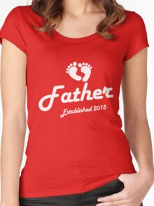 Father Established Est 2015 New Baby T-Shirt Women's Fitted Scoop T-Shirt