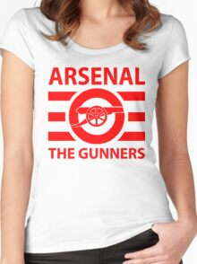 Arsenal - The gunners Women's Fitted Scoop T-Shirt