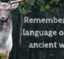 Remember The Language  Sticker
