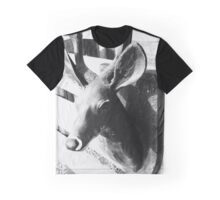Deer Sculpture Graphic T-Shirt