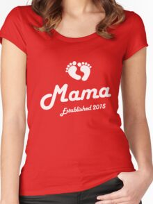 Mama Established Est 2015 New Baby T-Shirt Women's Fitted Scoop T-Shirt