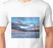 Storm Cloud Across Frozen Bay Unisex T-Shirt