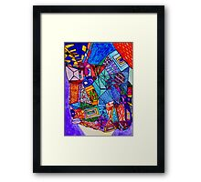 What Did You See in the Museum? Framed Print